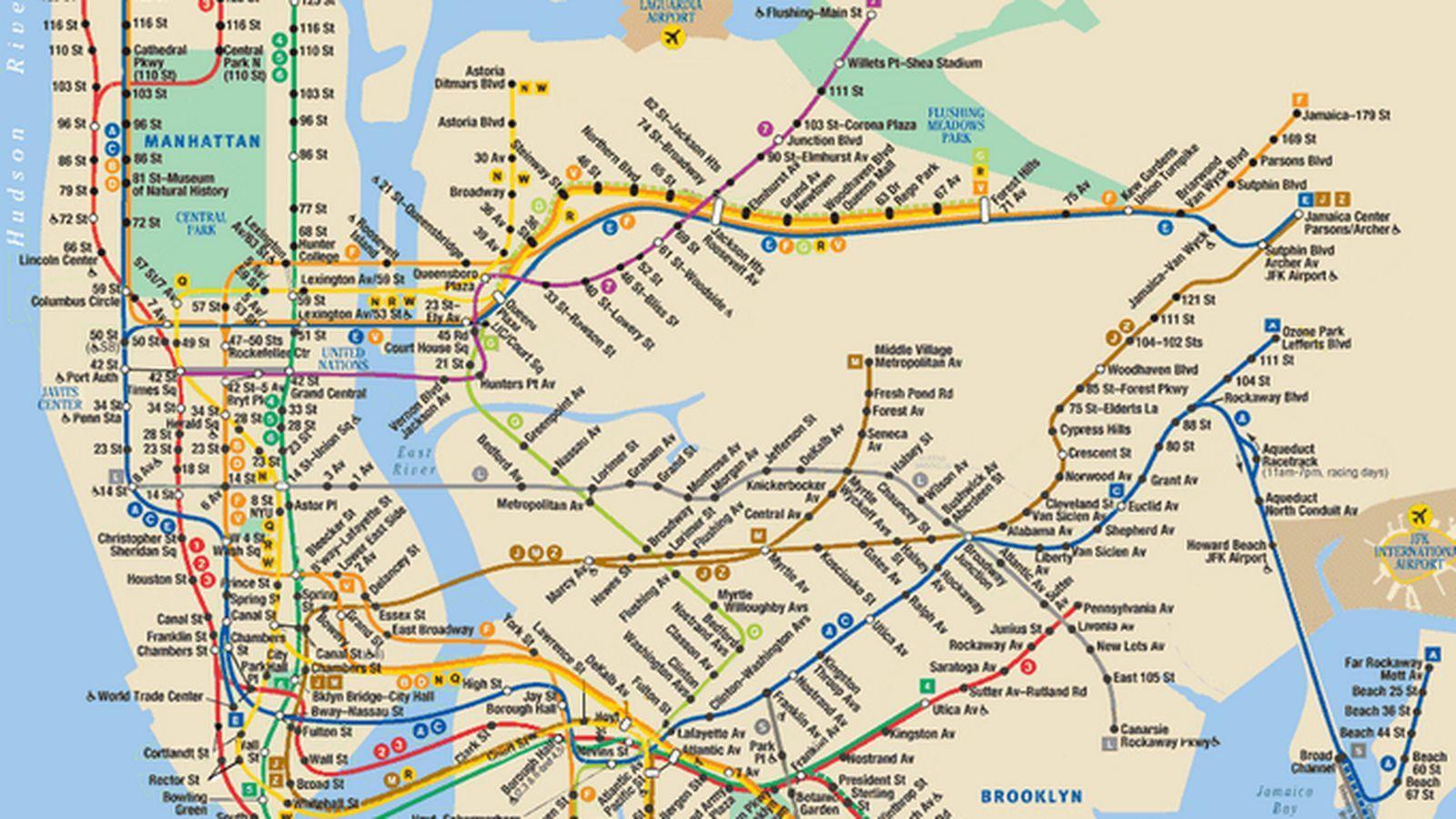New York Linie De Metrou Hartă Harta De Metrou Din New York New