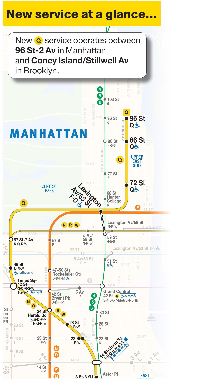 Q Harta Metrou Q Linie De Metrou Hartă New York Sua